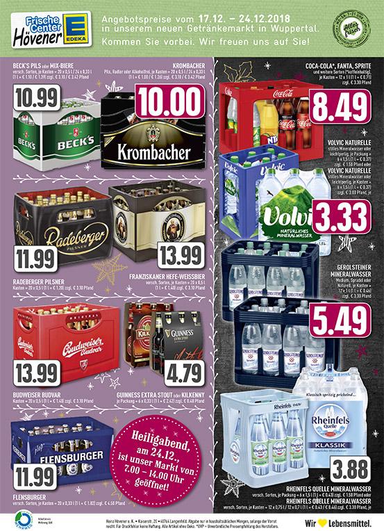 Edeka Hoevener Wasser Bier Coca Cola Aktuelle Angebote