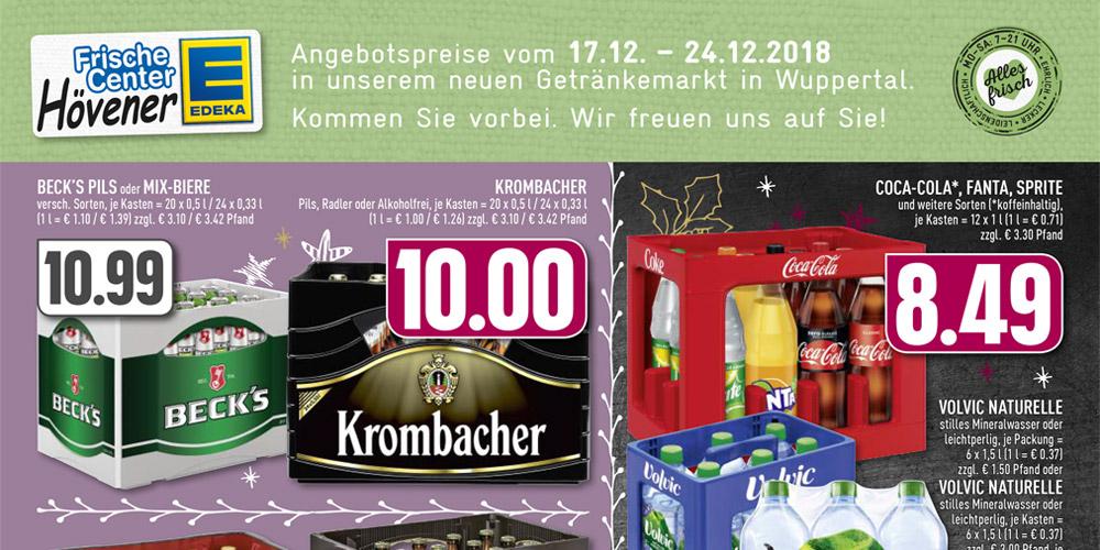 Wasser, Bier, Coca Cola… Aktuelle Angebote